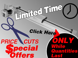 SPECIAL CLEARANCE on Ball Screw Slides & Belt Slides!
