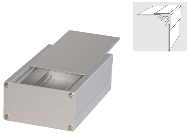 Aluminum extrusion enclosure profiles
