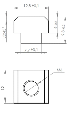 Techno Linear Motion Components - T-Slot Nuts for heavy-duty
